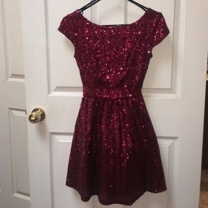 B. Darlin Red Sequin Dress